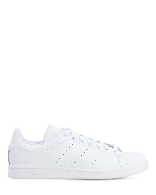 メンズ Adidas Originals オフホワイト スタンスミス リコン スニーカー White