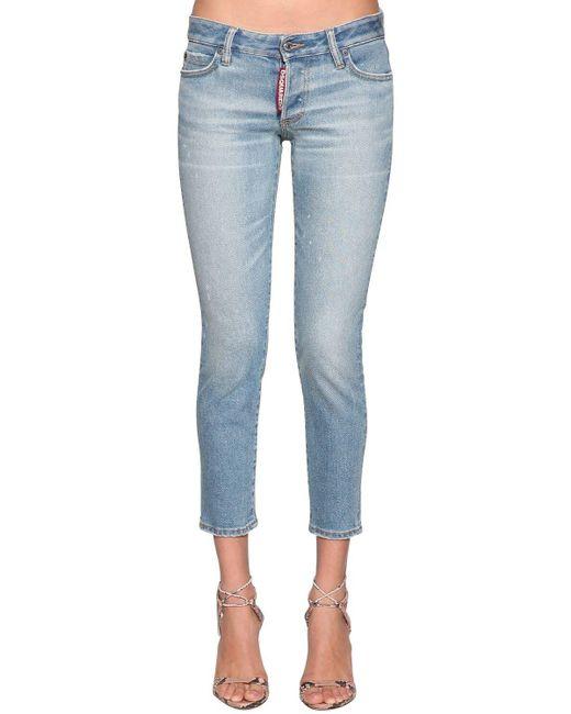 """Jeans """"Jennifer"""" In Denim di DSquared² in Blue"""
