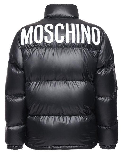 Пуховик Из Нейлона Moschino для него, цвет: Black