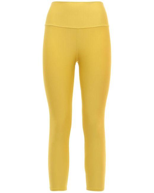 Alo Yoga Airlift Capri ハイウエストレギンス Yellow