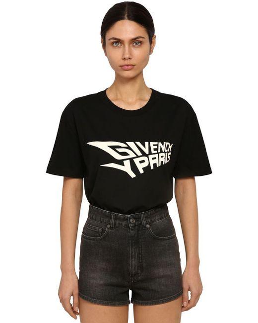 Givenchy コットンジャージーtシャツ Black