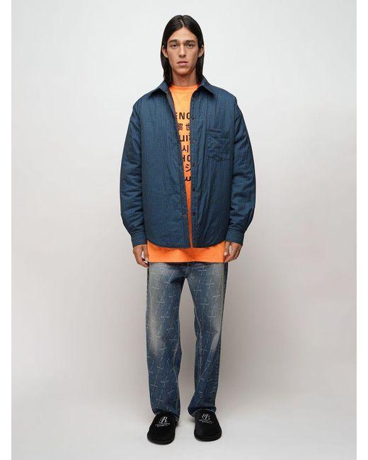 メンズ Balenciaga パデッドフランネルシャツジャケット Blue