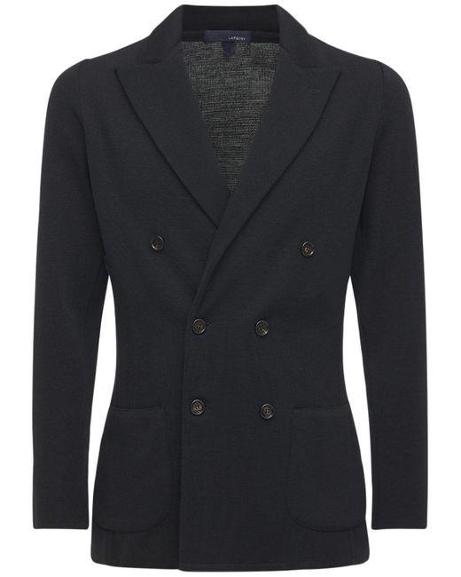 Двубортный Шерстяной Пиджак Lardini для него, цвет: Black