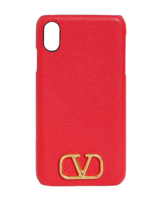 Valentino Garavani グレインレザーiphone X/xsケース Multicolor