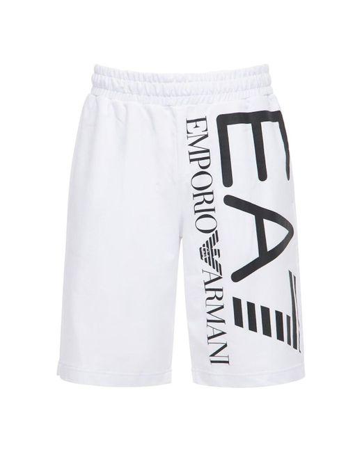 メンズ EA7 Train Logo バミューダパンツ White