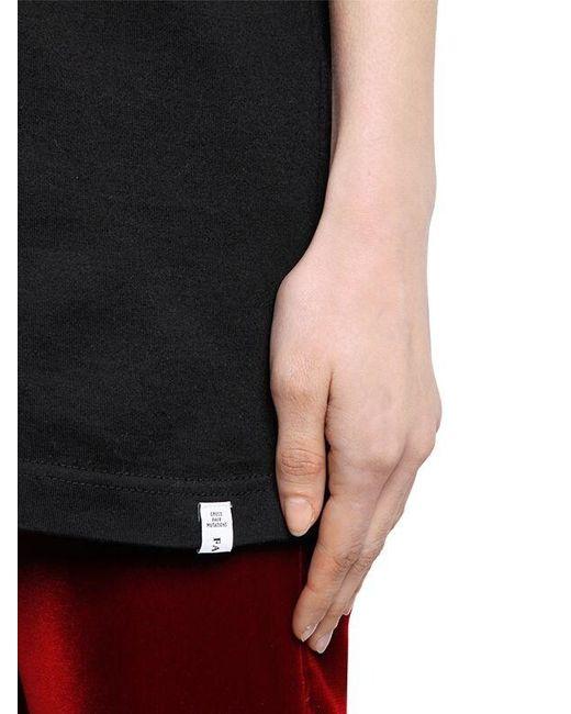 Facetasm Black T-shirt Aus Baumwolle Mit Gesichtsdruck