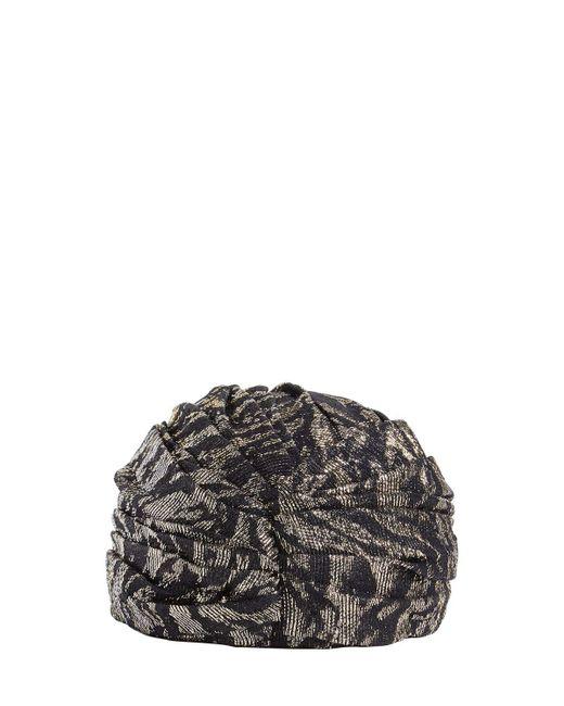 Тюрбан Из Шелка И Люрекса Saint Laurent, цвет: Black