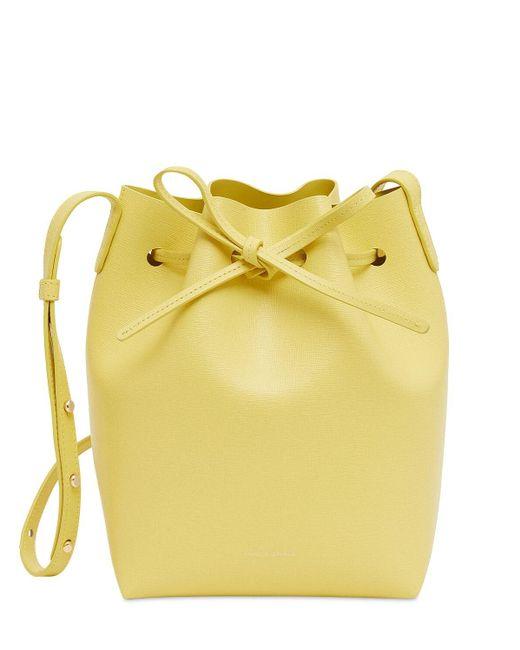 Mansur Gavriel Mini サフィアーノバケットバッグ Yellow