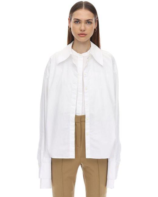 ROKH コットンポプリンシャツ White
