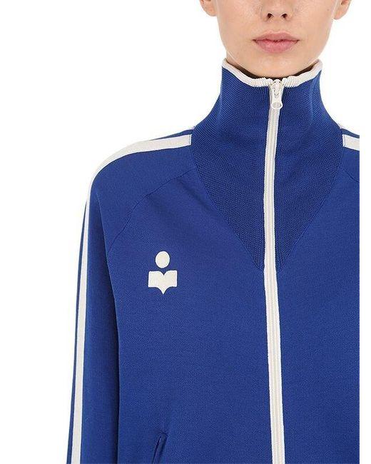 Étoile Isabel Marant Darcey ビスコース混ニット トラックジャケット Blue