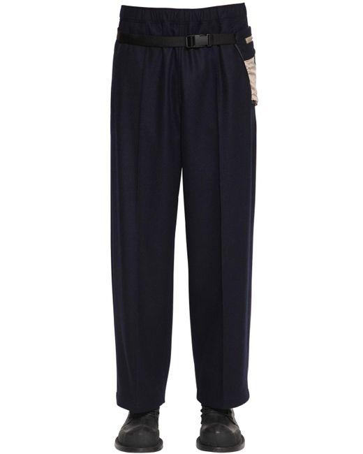 Maison Margiela Blue 25cm Virgin Wool Pants W/belt Bag for men
