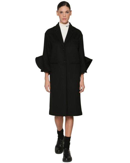 Пальто Из Шерсти И Кашемира Valentino, цвет: Black