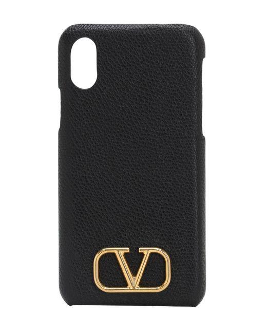 Valentino Garavani Valentino Garavani Iphone X/xs グレインレザーケース Black