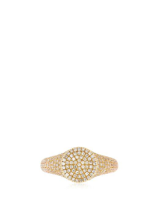 EF Collection - Metallic Diamond 14kt Gold Signet Ring - Lyst