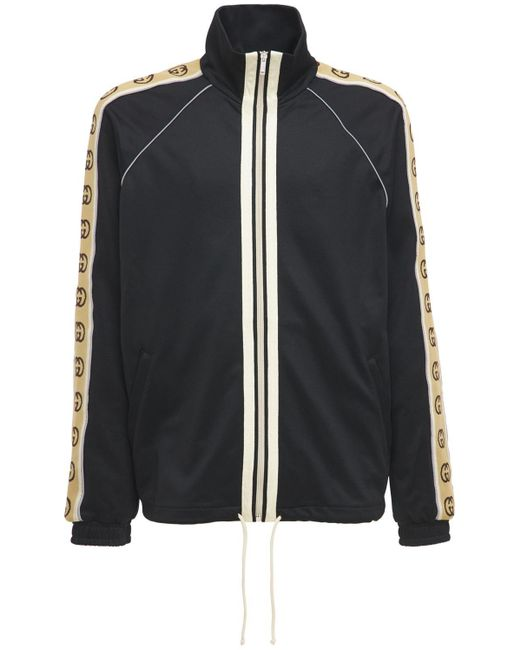 メンズ Gucci 【公式】 (グッチ)オーバーサイズ テクニカルジャージー ジャケットブラック テクニカルジャージーブラック Black