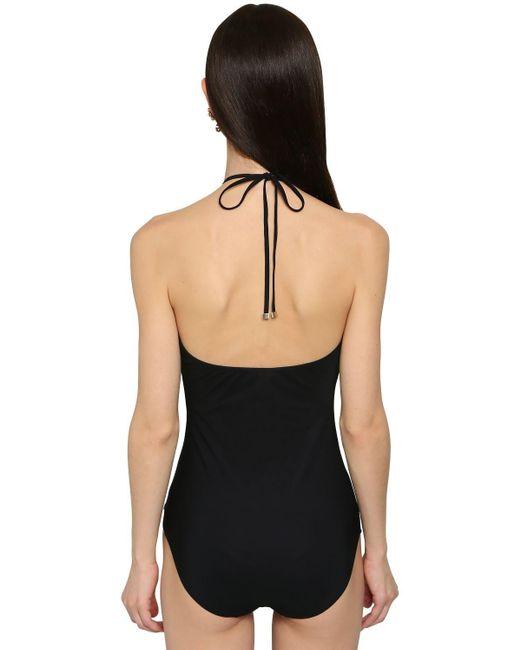 Bañador Entero De Jersey Dolce & Gabbana de color Black