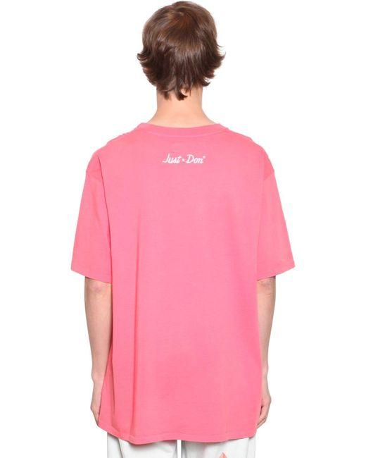 メンズ Just Don コットンジャージーtシャツ Pink