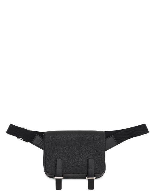 メンズ Loewe グレインレザーミリタリーベルトバッグ Black