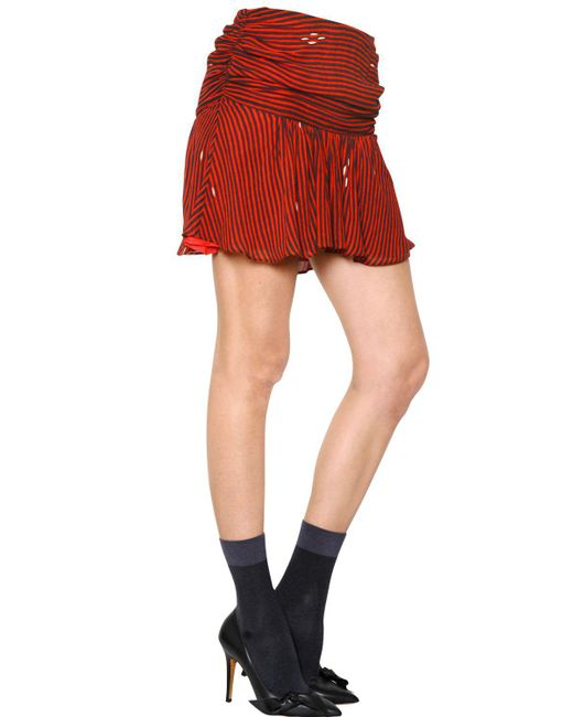 Étoile Isabel Marant - Red Striped Viscose Crepe Skirt - Lyst