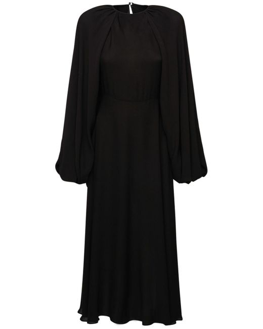 Valentino シルクジョーゼットドレス Black