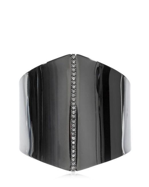 FEDERICA TOSI - Black Polygon Bracelet W/ Crystals - Lyst