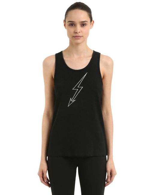 Givenchy - Black World Tour Print Ribbed Jersey Tank Top - Lyst