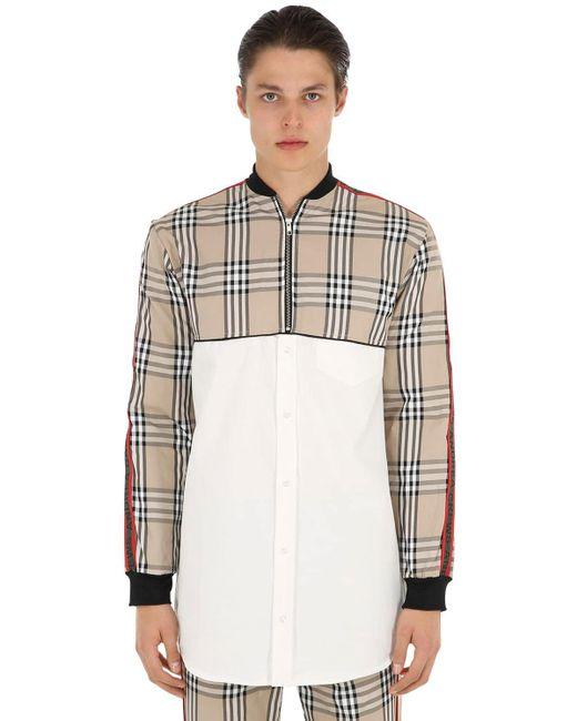 Camicia Con Pannelli Check di Andrea Crews in Multicolor da Uomo