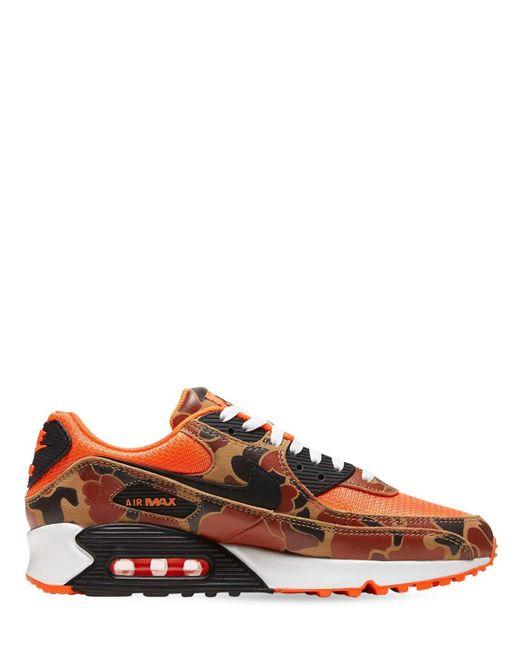 Nike Orange Air Max 90 Sneakers
