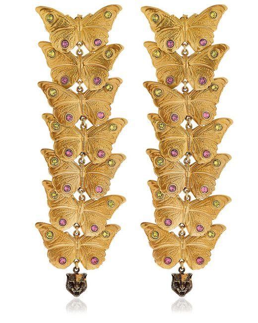 Gucci | Metallic Statement Butterfly Earrings | Lyst