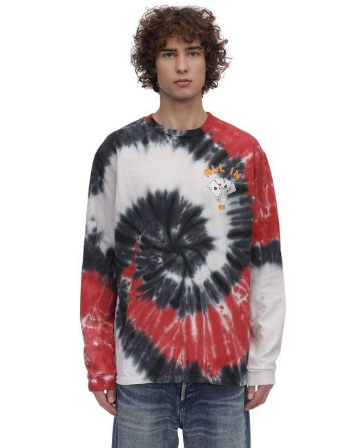 メンズ Just Don タイダイコットンジャージーtシャツ Multicolor