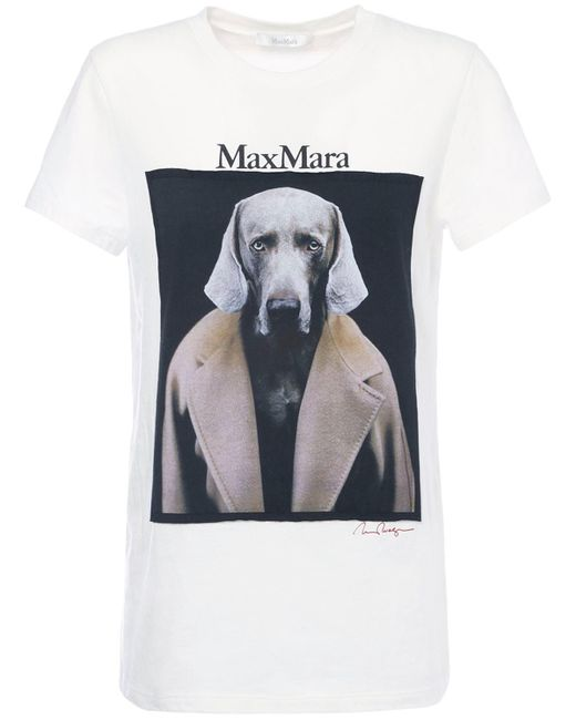 Max Mara コットンジャージーtシャツ Gray