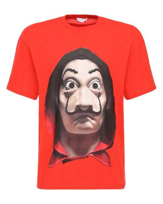 メンズ Ih Nom Uh Nit Dali リラックスコットンtシャツ Red