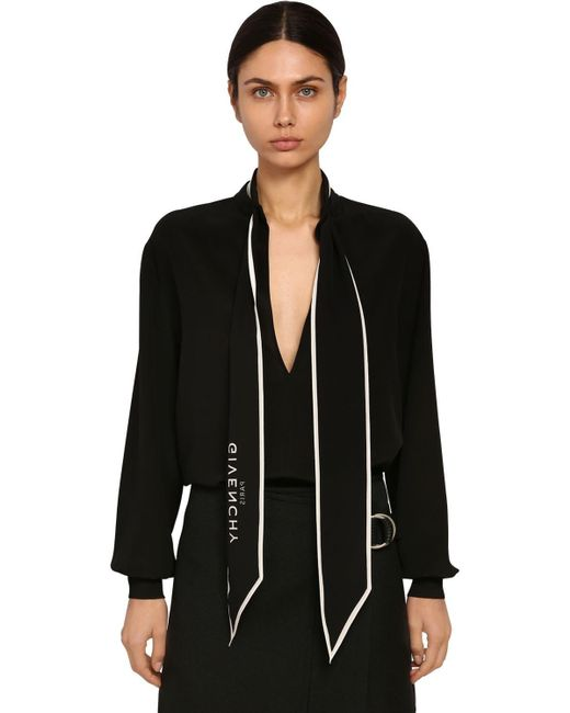 Рубашка Из Шелкового Крепа Givenchy, цвет: Black