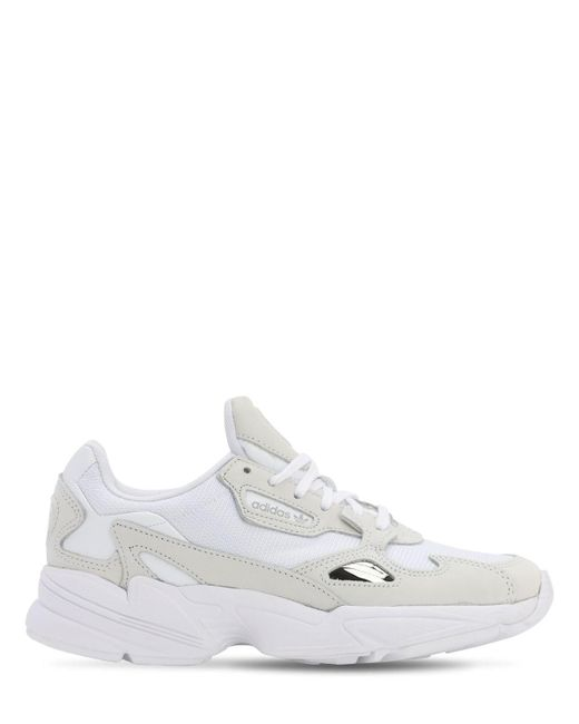 Adidas Originals Falcon レザースニーカー White