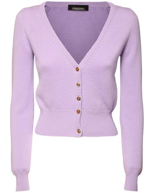 Versace カシミアカーディガン Purple