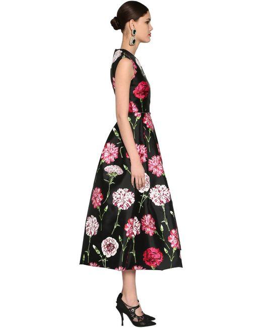 Dolce & Gabbana シルクミカド ミディドレス Black