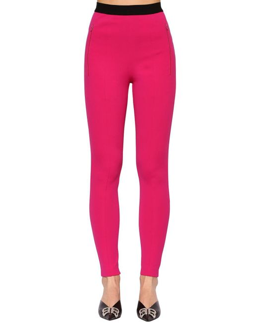 Balenciaga テクノジャージー インターシャロゴレギンス Pink