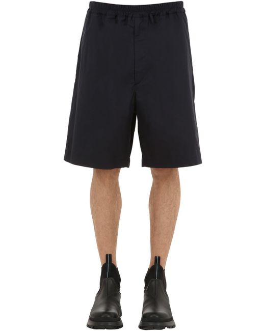 "Jil Sander - Blue Shorts ""sean Bis"" De Algodón for Men - Lyst"