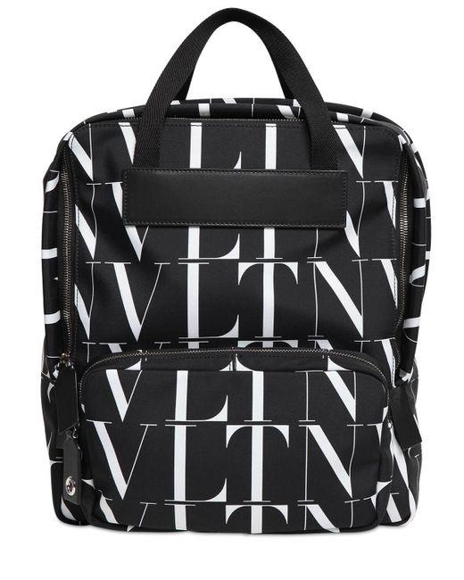 メンズ Valentino Garavani Vltn Times ナイロンバックパック Black