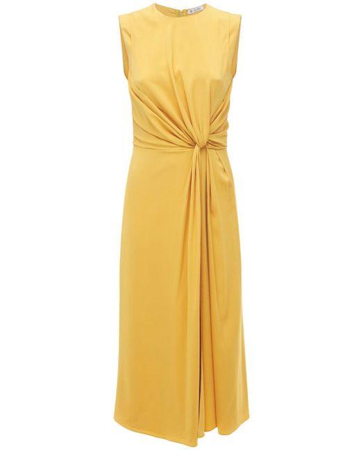 Loro Piana シルクジョーゼットドレス Yellow