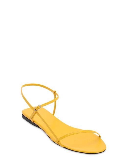 The Row Bare レザーフラットサンダル 10mm Yellow