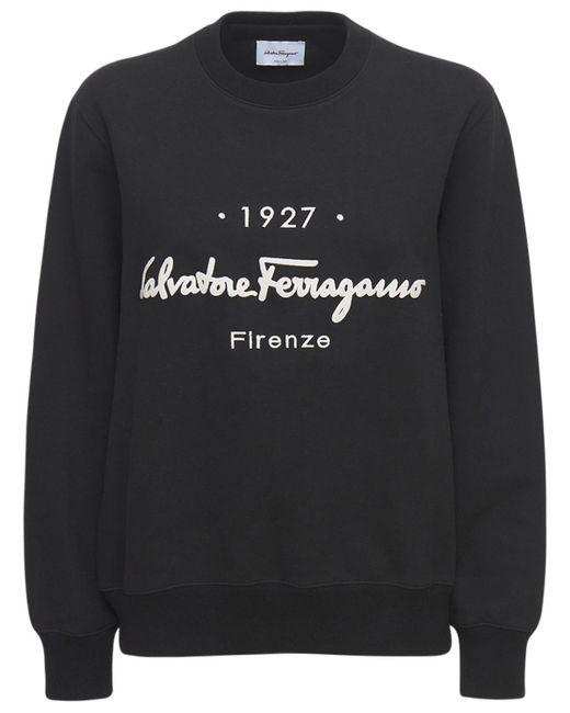 Ferragamo コットンジャージースウェットシャツ Black