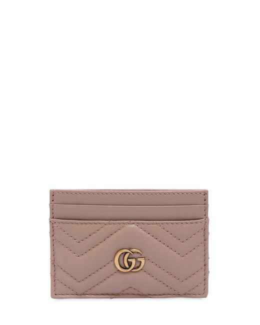 Gucci Multicolor Gg Marmont 2.0 Leather Card Holder