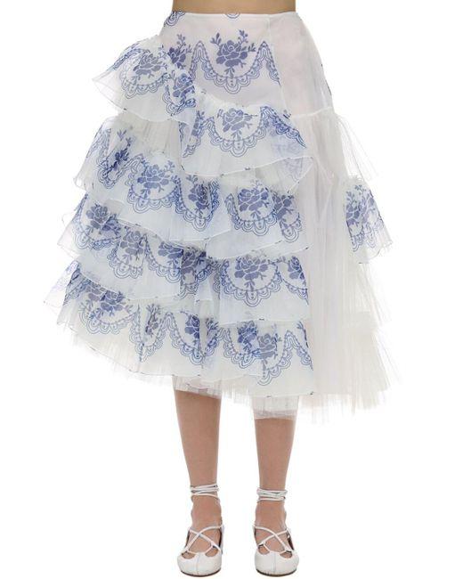 Юбка Из Тюля Simone Rocha, цвет: Blue
