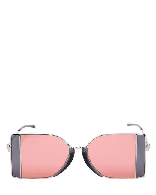 CALVIN KLEIN 205W39NYC スクエア シースルーレンズ サングラス Pink