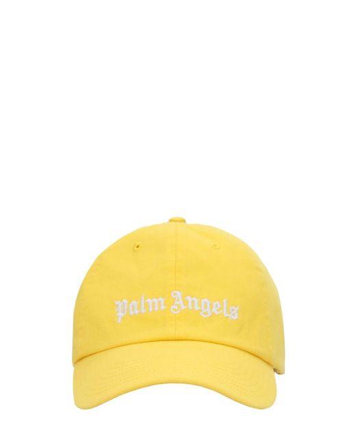 メンズ Palm Angels Classic コットンキャンバスキャップ Yellow