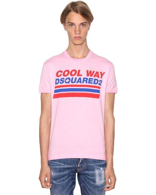 メンズ DSquared² Very Very Dan Fitジャージーtシャツ Pink