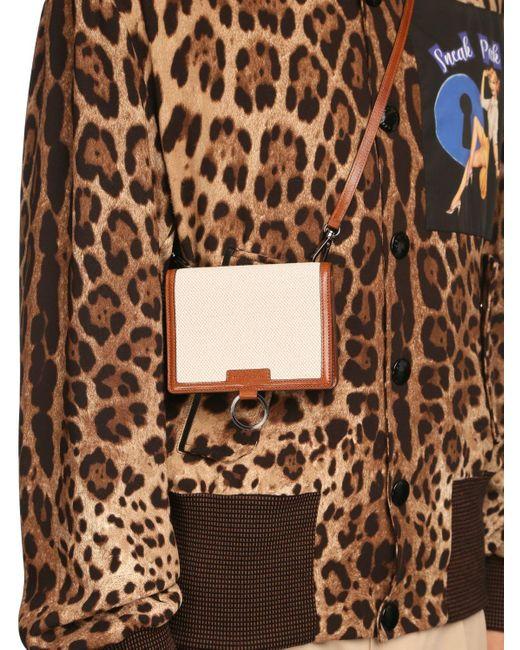 Кошелек Из Канваса И Кожи Dolce & Gabbana для него, цвет: Multicolor