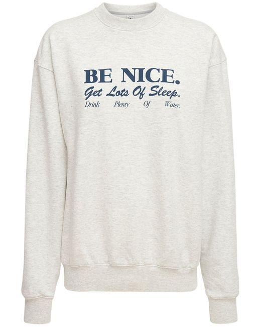 Sporty & Rich Be Nice スウェットシャツ Gray