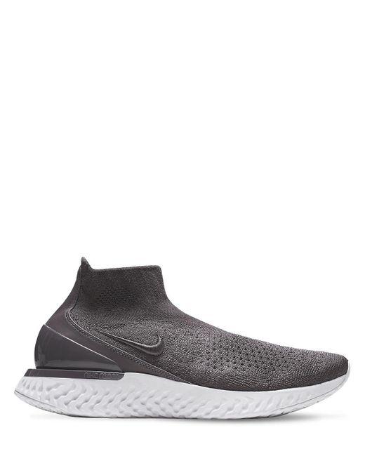 Rise React Flyknit Sneakers Nike, цвет: Gray